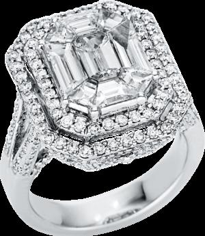 Ring Brogle Selection Exceptional aus 750 Weißgold mit 358 Brillanten (3,08 Karat)