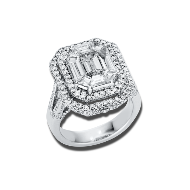 Ring Brogle Selection Exceptional aus 750 Weißgold mit 358 Brillanten (3,08 Karat) bei Brogle