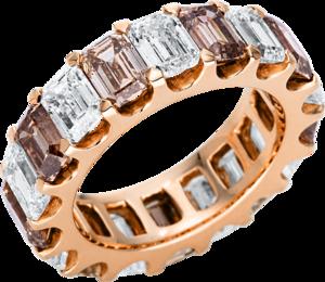 Ring Brogle Selection Exceptional aus 750 Roségold mit 18 Diamanten (7,97 Karat)