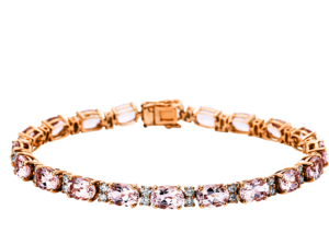 Armband Brogle Selection Felicity aus 585 Roségold mit 40 Brillanten (1,41 Karat) und 20 Morganiten