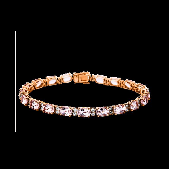 Armband Brogle Selection Felicity aus 585 Roségold mit 40 Brillanten (1,41 Karat) und 20 Morganiten bei Brogle