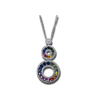 Brogle Selection Halskette mit Anhänger Felicity 4D105W8-2
