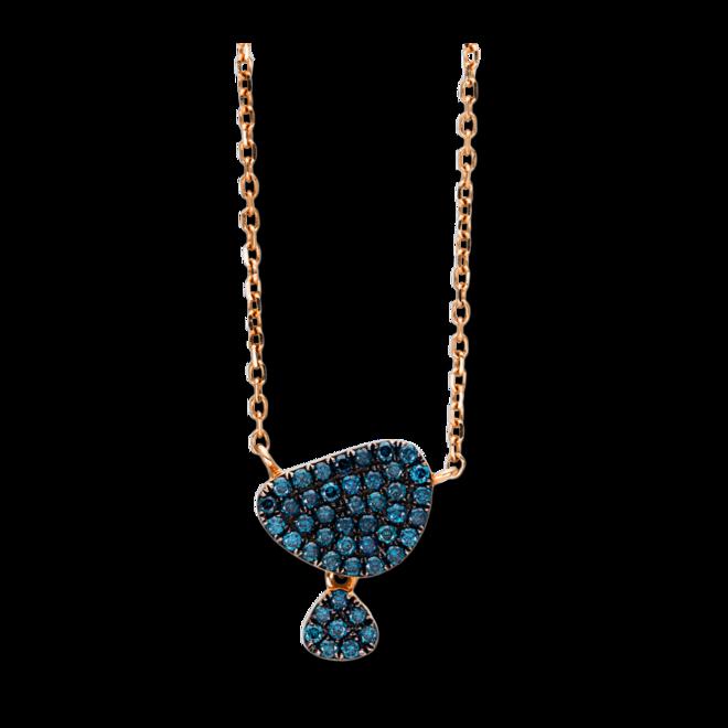Halskette mit Anhänger Brogle Selection Felicity aus 750 Roségold mit 45 Brillanten (0,25 Karat) bei Brogle