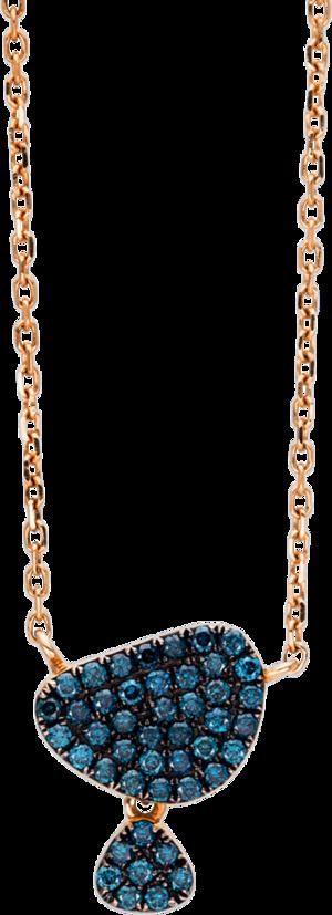 Halskette mit Anhänger Brogle Selection Felicity aus 750 Roségold mit 45 Brillanten (0,25 Karat)