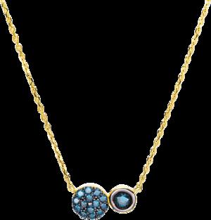 Halskette mit Anhänger Brogle Selection Felicity aus 750 Gelbgold mit 15 Brillanten (0,38 Karat)