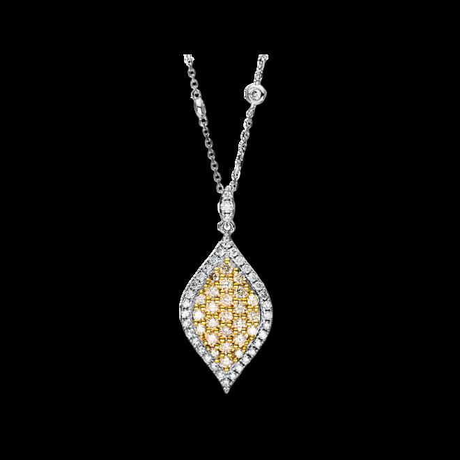 Halskette mit Anhänger Brogle Selection Felicity aus 585 Weißgold und 585 Gelbgold mit 64 Brillanten (1,16 Karat) bei Brogle