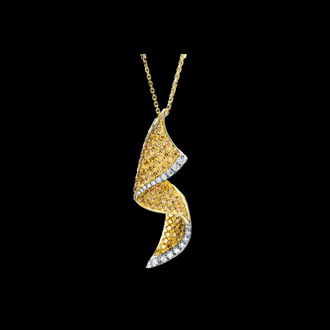 Halskette mit Anhänger Brogle Selection Felicity aus 585 Gelbgold mit 111 Brillanten (1,66 Karat) bei Brogle