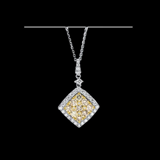 Halskette mit Anhänger Brogle Selection Felicity aus 585 Weißgold und 585 Gelbgold mit 46 Brillanten (1,57 Karat) bei Brogle