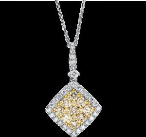 Halskette mit Anhänger Brogle Selection Felicity aus 585 Weißgold und 585 Gelbgold mit 46 Brillanten (1,57 Karat)