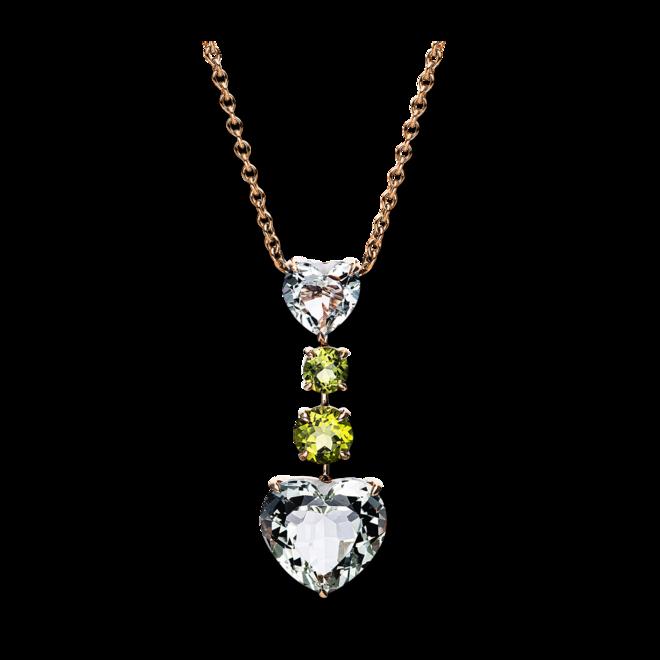Halskette mit Anhänger Brogle Selection Felicity aus 750 Roségold mit mehreren Edelsteinen bei Brogle