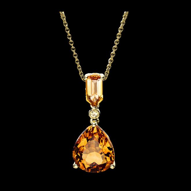 Halskette mit Anhänger Brogle Selection Felicity aus 750 Gelbgold mit mehreren Edelsteinen bei Brogle