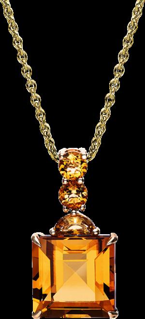 Halskette mit Anhänger Brogle Selection Felicity aus 750 Gelbgold mit mehreren Edelsteinen