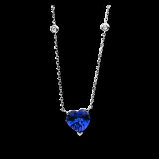 Brogle Selection Halskette mit Anhänger Felicity Herz 4B780W8-1