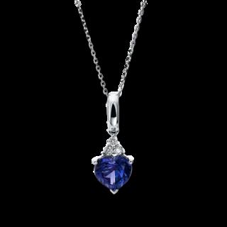 Brogle Selection Halskette mit Anhänger Felicity Herz 4F017W4-1