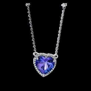 Brogle Selection Halskette mit Anhänger Felicity Herz 4F022W4-1