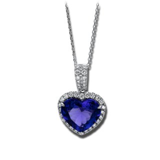 Brogle Selection Halskette mit Anhänger Felicity Herz 4F055W8-1