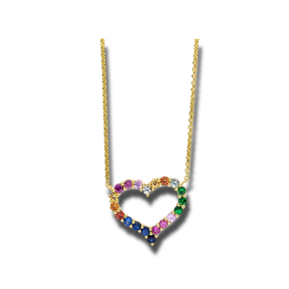 Brogle Selection Halskette mit Anhänger Felicity Herz 4F155G8-1