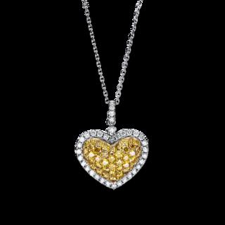Brogle Selection Halskette mit Anhänger Felicity Herz 4F451WG4-1