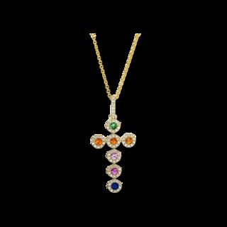 Brogle Selection Halskette mit Anhänger Felicity Kreuz 4F372G8-1