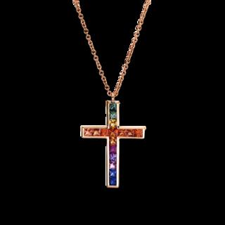 Brogle Selection Halskette mit Anhänger Felicity Kreuz 4F399R8-1