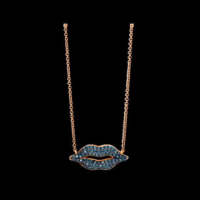 Halskette mit Anhänger Brogle Selection Felicity Mund aus 750 Roségold mit 70 Brillanten (0,2 Karat) bei Brogle