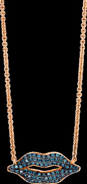 Halskette mit Anhänger Brogle Selection Felicity Mund aus 750 Roségold mit 70 Brillanten (0,2 Karat)