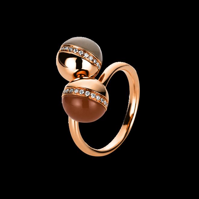 Ring Brogle Selection Felicity aus 750 Roségold mit 34 Brillanten (0,14 Karat) und mehreren Edelsteinen Größe 59 bei Brogle