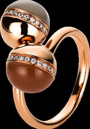 Ring Brogle Selection Felicity aus 750 Roségold mit 34 Brillanten (0,14 Karat) und mehreren Edelsteinen Größe 59