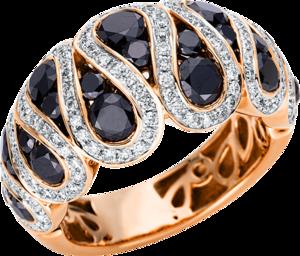 Ring Brogle Selection Felicity aus 750 Roségold und 750 Weißgold mit 159 Brillanten (3,06 Karat)