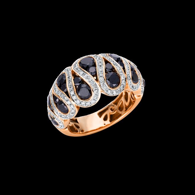 Ring Brogle Selection Felicity aus 750 Roségold und 750 Weißgold mit 159 Brillanten (3,06 Karat) bei Brogle