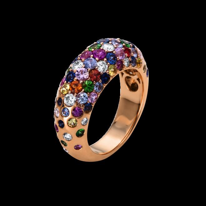 Ring Brogle Selection Felicity aus 750 Roségold mit 18 Brillanten (0,57 Karat) und 41 Saphiren bei Brogle