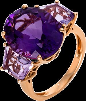 Ring Brogle Selection Felicity aus 750 Roségold mit mehreren Edelsteinen