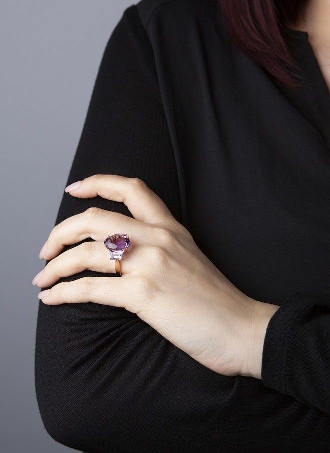 Ring Brogle Selection Felicity aus 750 Roségold mit mehreren Edelsteinen bei Brogle