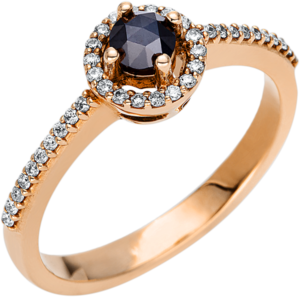 Ring Brogle Selection Felicity aus 750 Roségold mit 39 Diamanten (0,32 Karat)