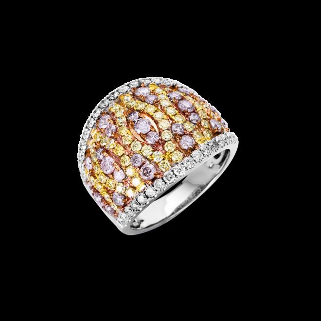 Ring Brogle Selection Felicity aus 585 Weißgold, 585 Gelbgold und 585 Roségold mit 117 Brillanten (2,35 Karat) bei Brogle