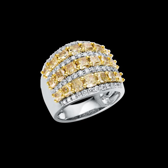 Ring Brogle Selection Felicity aus 585 Weißgold und 585 Gelbgold mit 71 Brillanten (4,62 Karat) bei Brogle