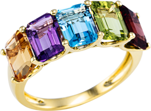 Ring Brogle Selection Felicity aus 750 Gelbgold mit 5 Saphiren
