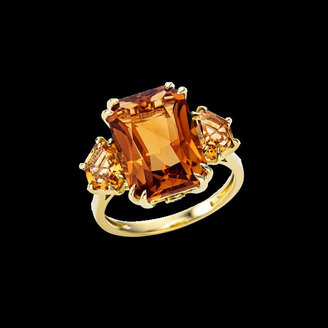 Ring Brogle Selection Felicity aus 750 Gelbgold mit 2 Brillanten (0,05 Karat) und mehreren Edelsteinen bei Brogle
