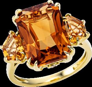 Ring Brogle Selection Felicity aus 750 Gelbgold mit 2 Brillanten (0,05 Karat) und mehreren Edelsteinen