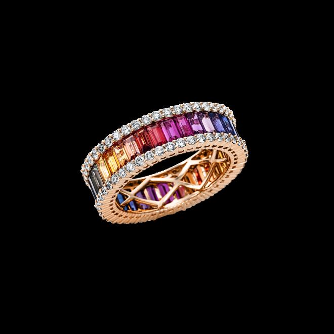 Ring Brogle Selection Felicity aus 750 Roségold mit 90 Brillanten (1,17 Karat) und 34 Saphiren bei Brogle