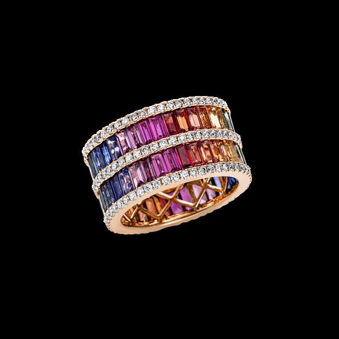 Ring Brogle Selection Felicity aus 750 Roségold mit 151 Brillanten (1,33 Karat) und 68 Saphiren bei Brogle