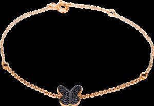 Armband Brogle Selection Felicity Schmetterling aus 750 Roségold mit 40 Brillanten (0,15 Karat)