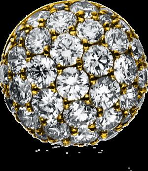 Anhänger Brogle Selection Illusion aus 750 Gelbgold mit 41 Brillanten (1,09 Karat)