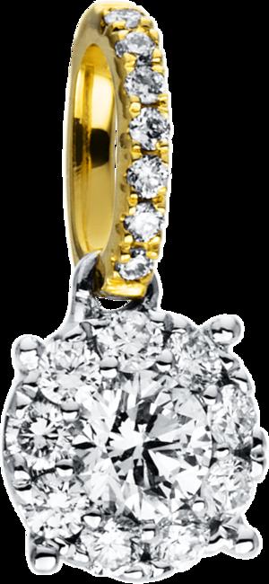 Anhänger Brogle Selection Illusion aus 750 Weißgold und 750 Gelbgold mit 17 Brillanten (0,24 Karat)