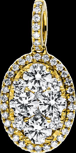 Anhänger Brogle Selection Illusion aus 750 Gelbgold mit 47 Brillanten (0,92 Karat)