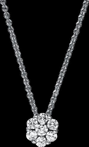 Halskette mit Anhänger Brogle Selection Illusion aus 750 Weißgold mit 7 Brillanten (0,43 Karat)