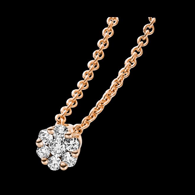 Halskette mit Anhänger Brogle Selection Illusion aus 750 Roségold mit 7 Brillanten (0,16 Karat) bei Brogle