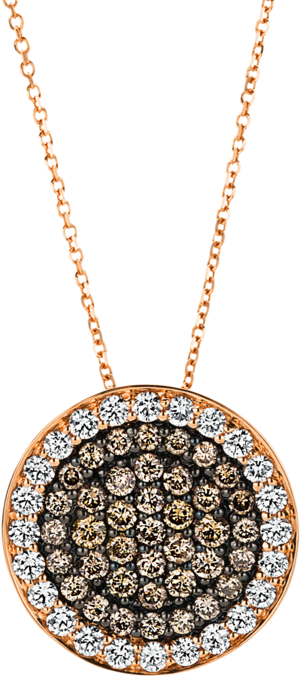 Halskette mit Anhänger Brogle Selection Illusion aus 750 Roségold mit 63 Brillanten (1,26 Karat)