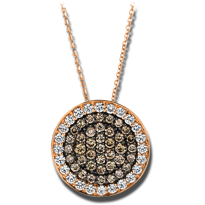 Halskette mit Anhänger Brogle Selection Illusion aus 750 Roségold mit 63 Brillanten (1,26 Karat) bei Brogle