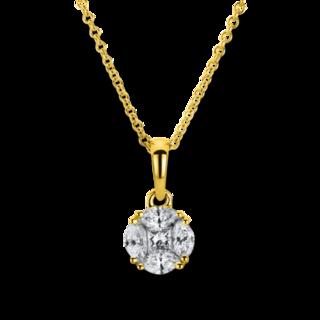 Brogle Selection Halskette mit Anhänger Illusion 4B082G8-1